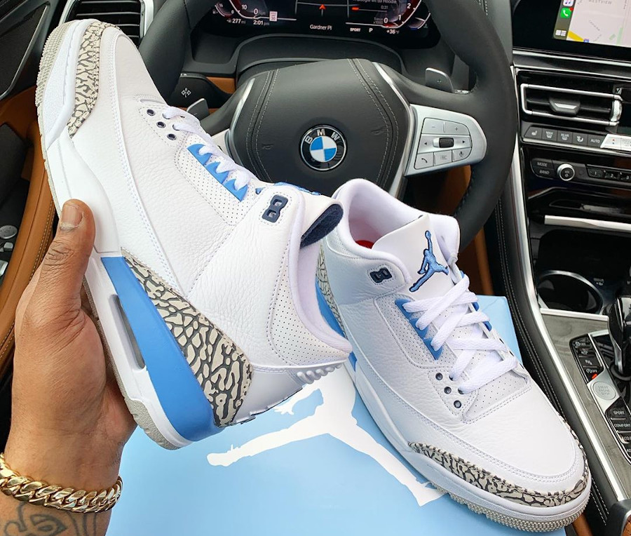 Air Jordan III Retro UNC Valor Blue 2020 (5)