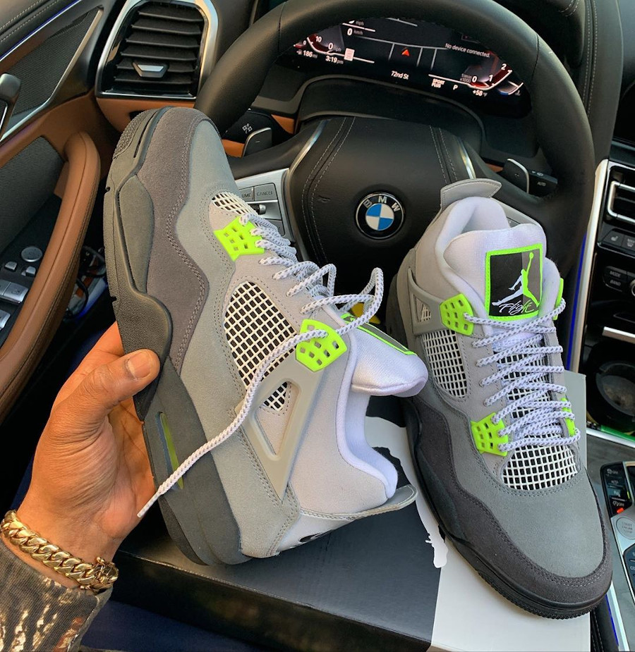 Air Jordan IV Retro 'Air Max 95 OG Neon Volt' (3)