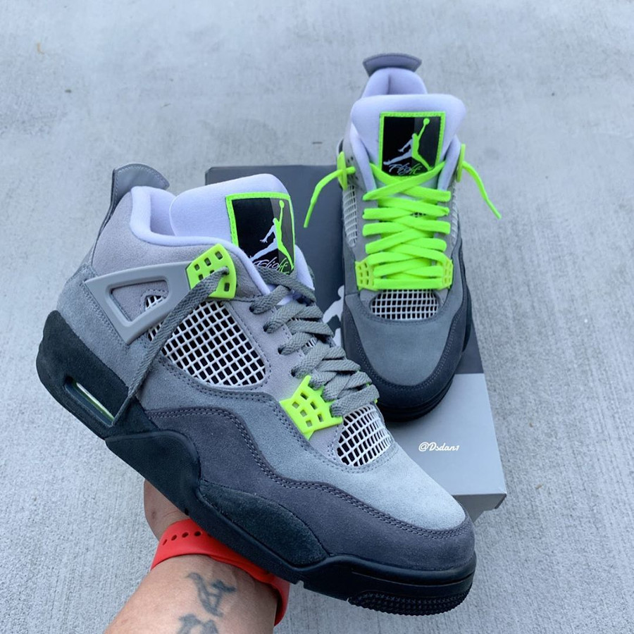 Air Jordan IV Retro 'Air Max 95 OG Neon Volt' (7)
