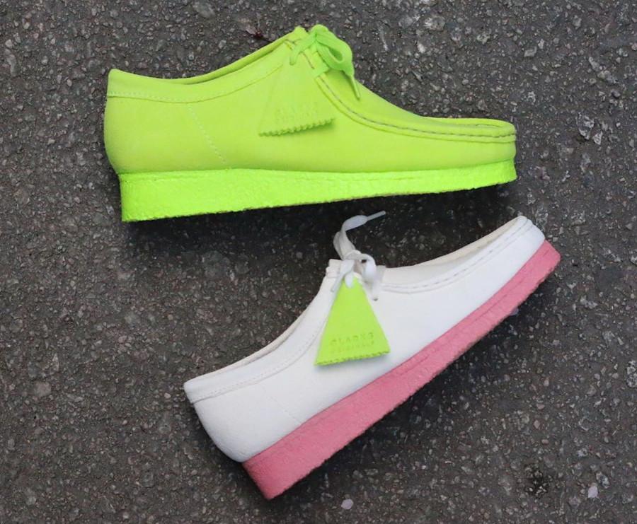 Clarks Originals Wallabee Bright White Pink (Neon Pack) (4)