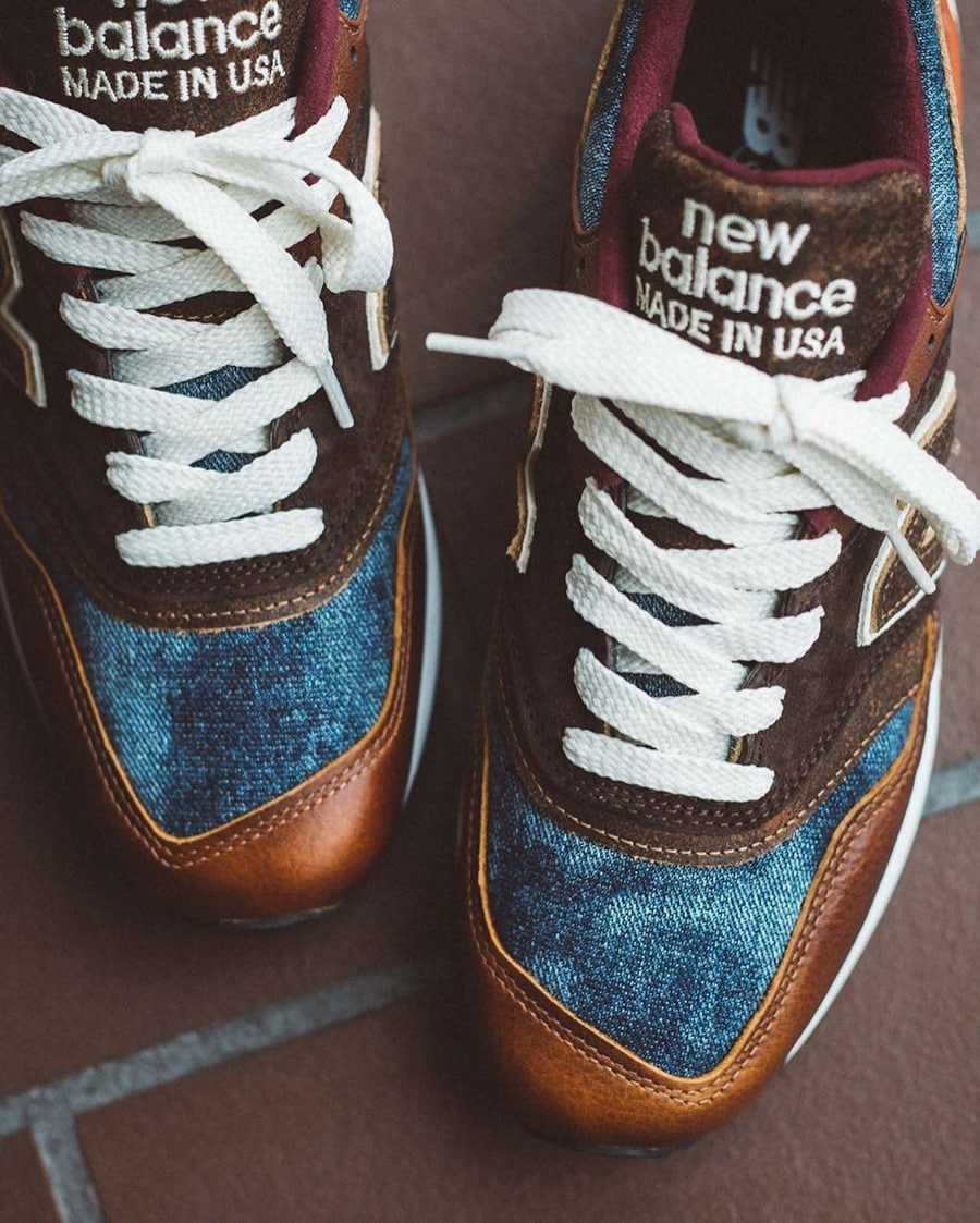 New Balance 997 'Elevated Basics' Brown Leather Blue Denim (Made in USA) (2)