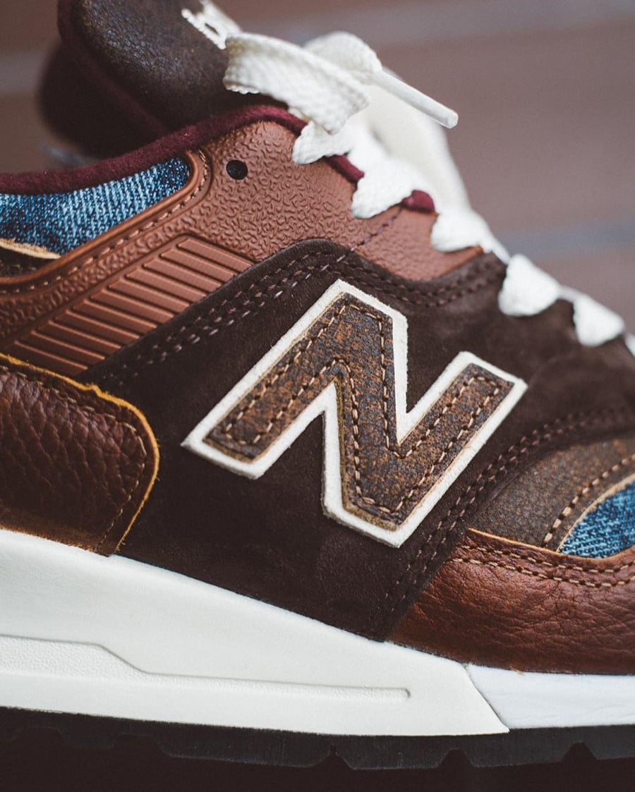 New Balance 997 'Elevated Basics' Brown Leather Blue Denim (Made in USA) (3)