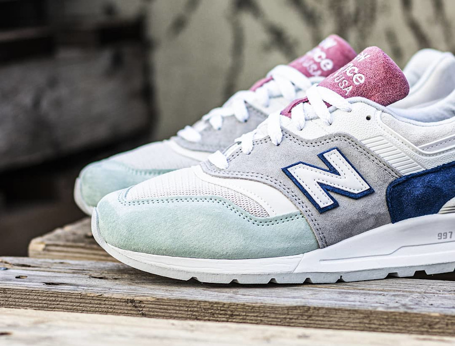 New Balance 997 'Less is More' Grey Green Pink (made in USA) (2)