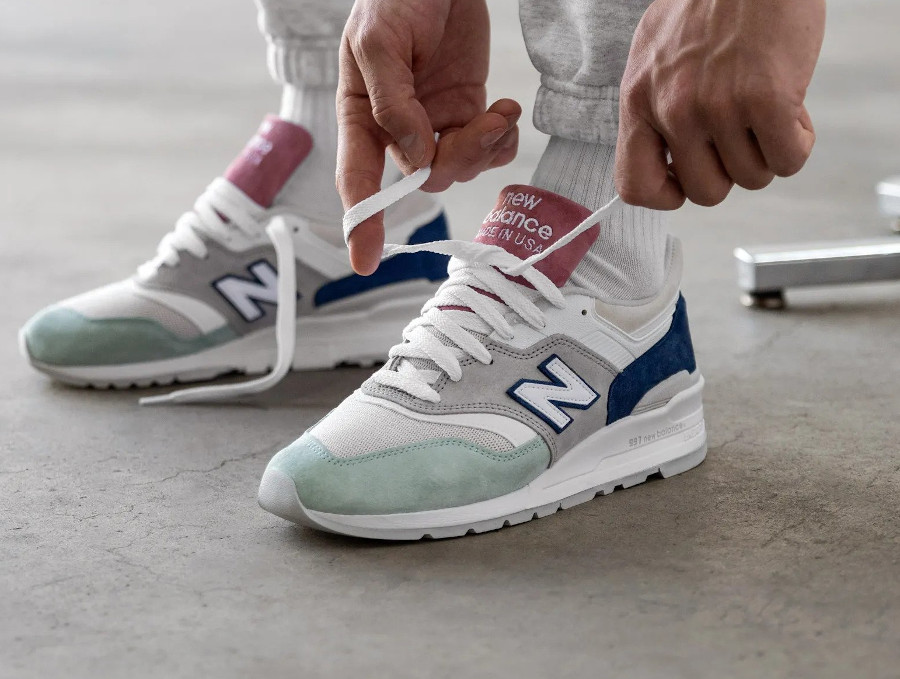 New Balance M997SOA Grey Green Pink (made in USA) (couv)