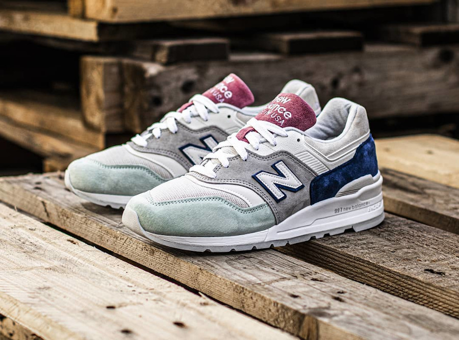 New Balance M997SOA Grey Green Pink (made in USA)