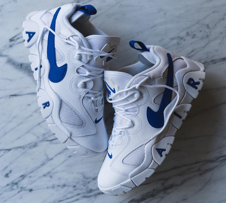Nike Air Barrage Low White Hyper Blue (1)