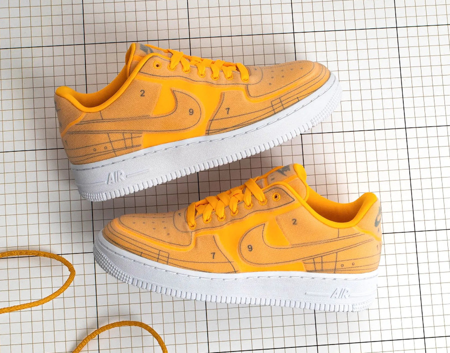 Nike Air Force 1 '07 LX Blueprint Laser Orange CI3445 800