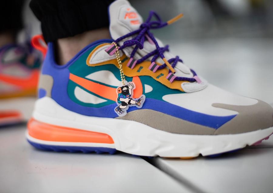 Nike Air Max 270 React ACG Light Orewood Brown Orange Blue (3)
