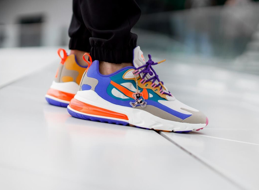 Nike Air Max 270 React ACG Light Orewood Brown Orange Blue (4)