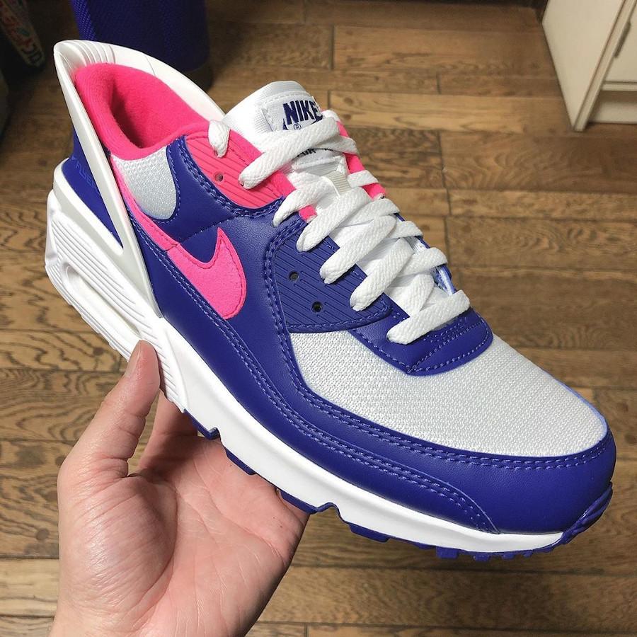 Nike Air Max 90 Flyease Deep Royal Blue Hyper Pink (4)