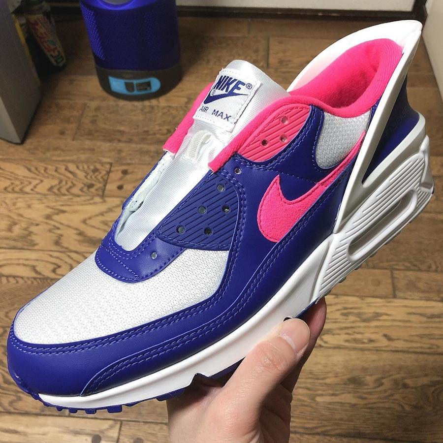 Nike Air Max 90 Flyease Deep Royal Blue Hyper Pink (5)