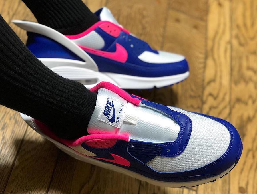 Nike Air Max 90 Flyease Deep Royal Blue Hyper Pink (6)