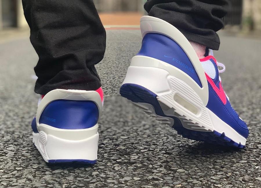 Nike Air Max 90 Flyease Deep Royal Blue Hyper Pink (8)