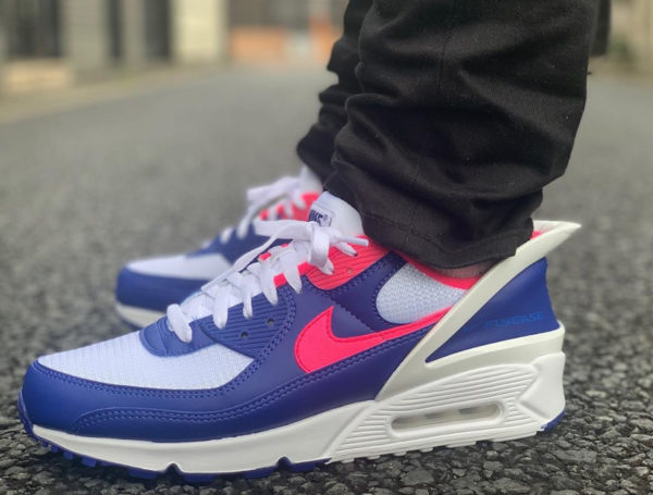 Nike Air Max 90 Flyease Deep Royal Blue Pink CU0814-101
