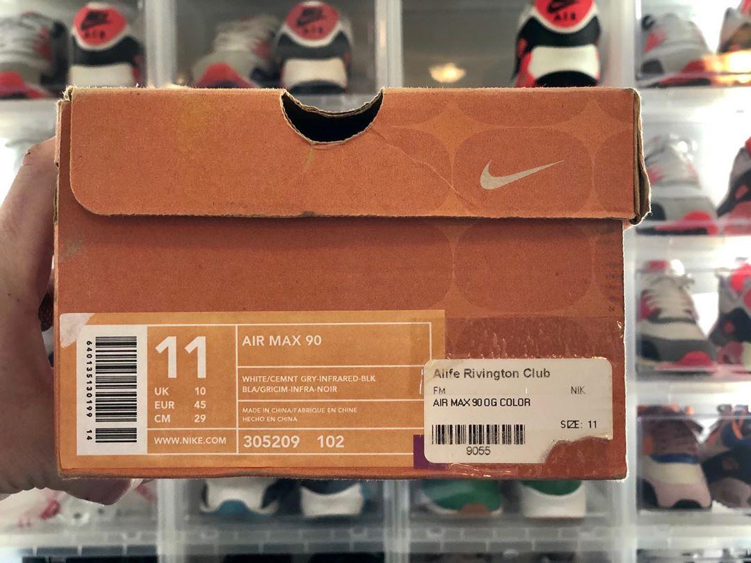 Nike Air Max 90 OG Infrared Big Bubble de 2003 (1)