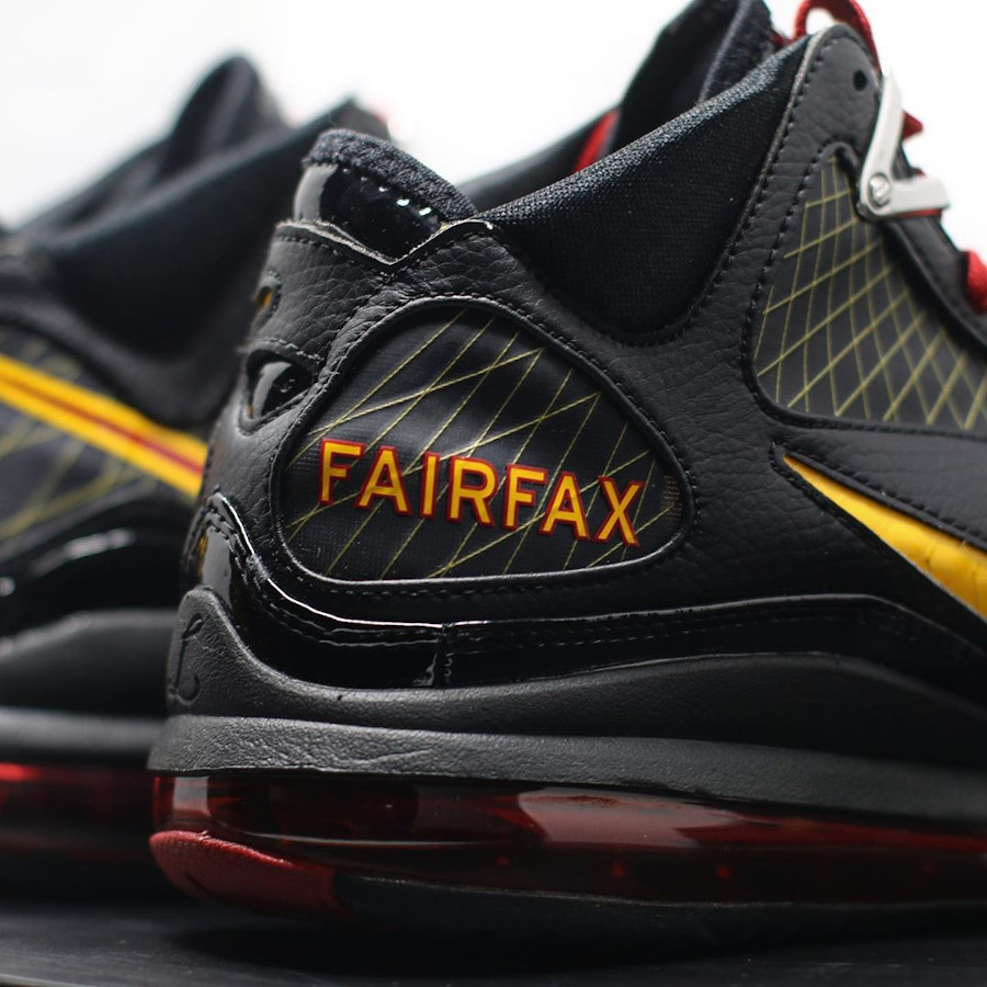 Nike Lebron 7 QS Fairfax 2020 Black Varsity Maize (1-2)