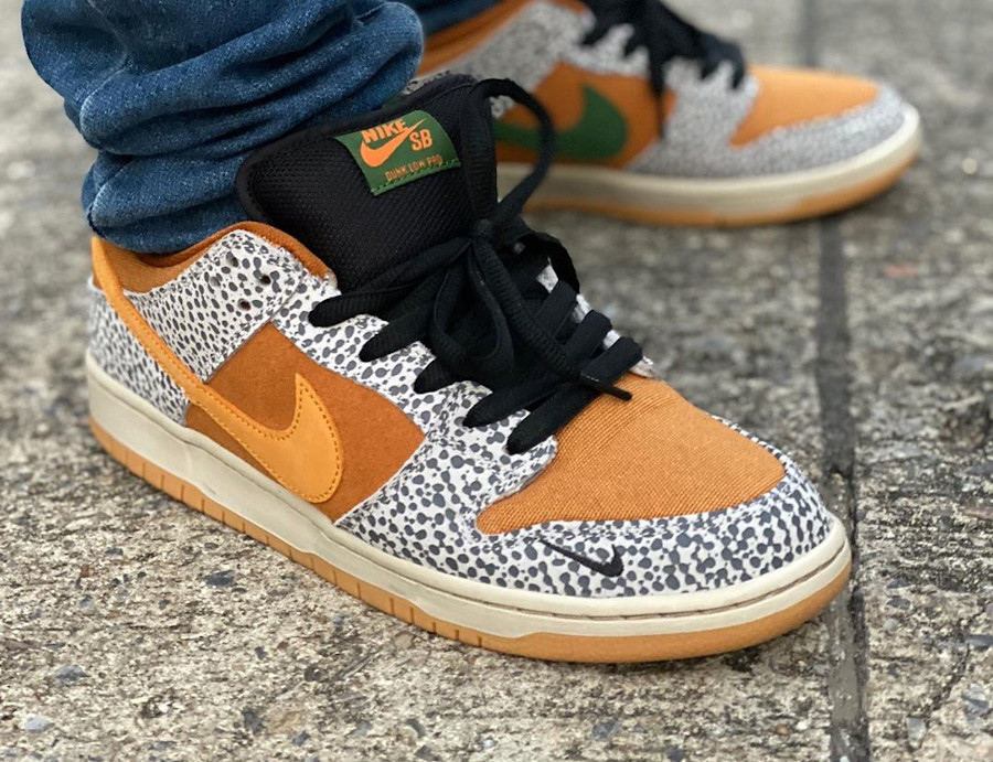 Nike SB Dunk Low Atmos Safari 2020 on feet (1)