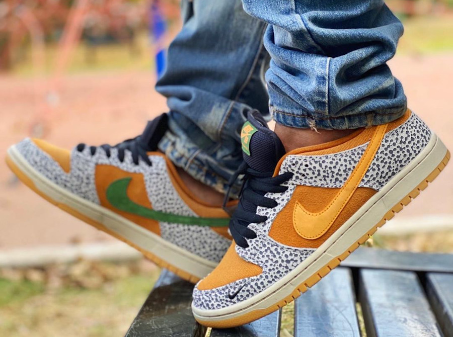 Nike SB Dunk Low Atmos Safari 2020 on feet (2)