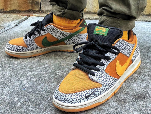 Nike SB Dunk Low Atmos Safari Kumquat 2020 CD2563-002