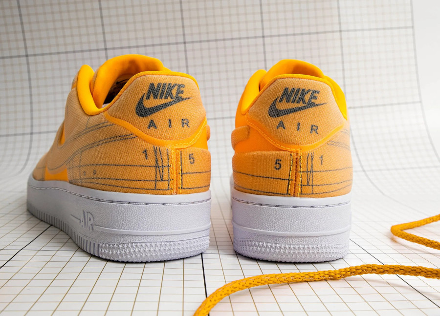 Nike Wmns Air Force 1 '07 LX Blueprint 'Laser Orange' (1)