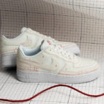 Women's Nike Air Force 1 '07 Lux Schematic Summit White University Red
