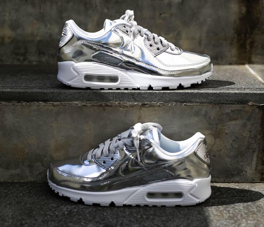 Nike Wmns Air Max 90 SP Metallic Pack 'Chrome' (1)