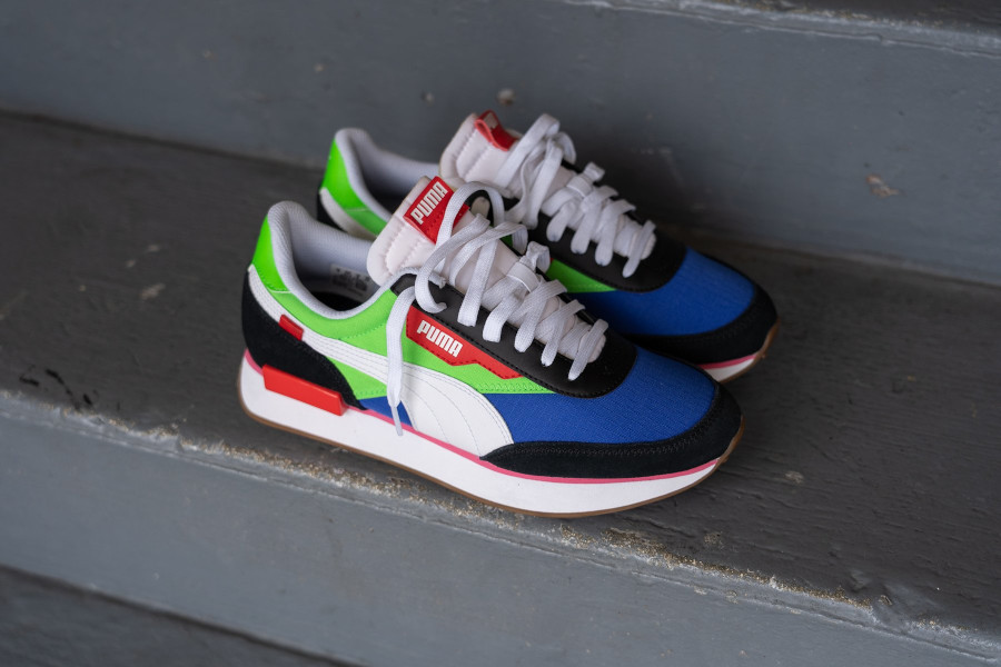 Puma Future Rider Play On 'Black Fluor Green Dazzling Blue' (3)