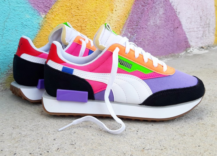 Puma-Future-Rider-Play-On-Wns-Multicolor-Luminous-Purple-Fluo-Pink-1