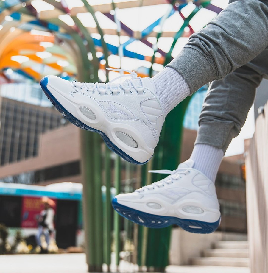 Reebok Question Mid Blanche Triple White EF7598