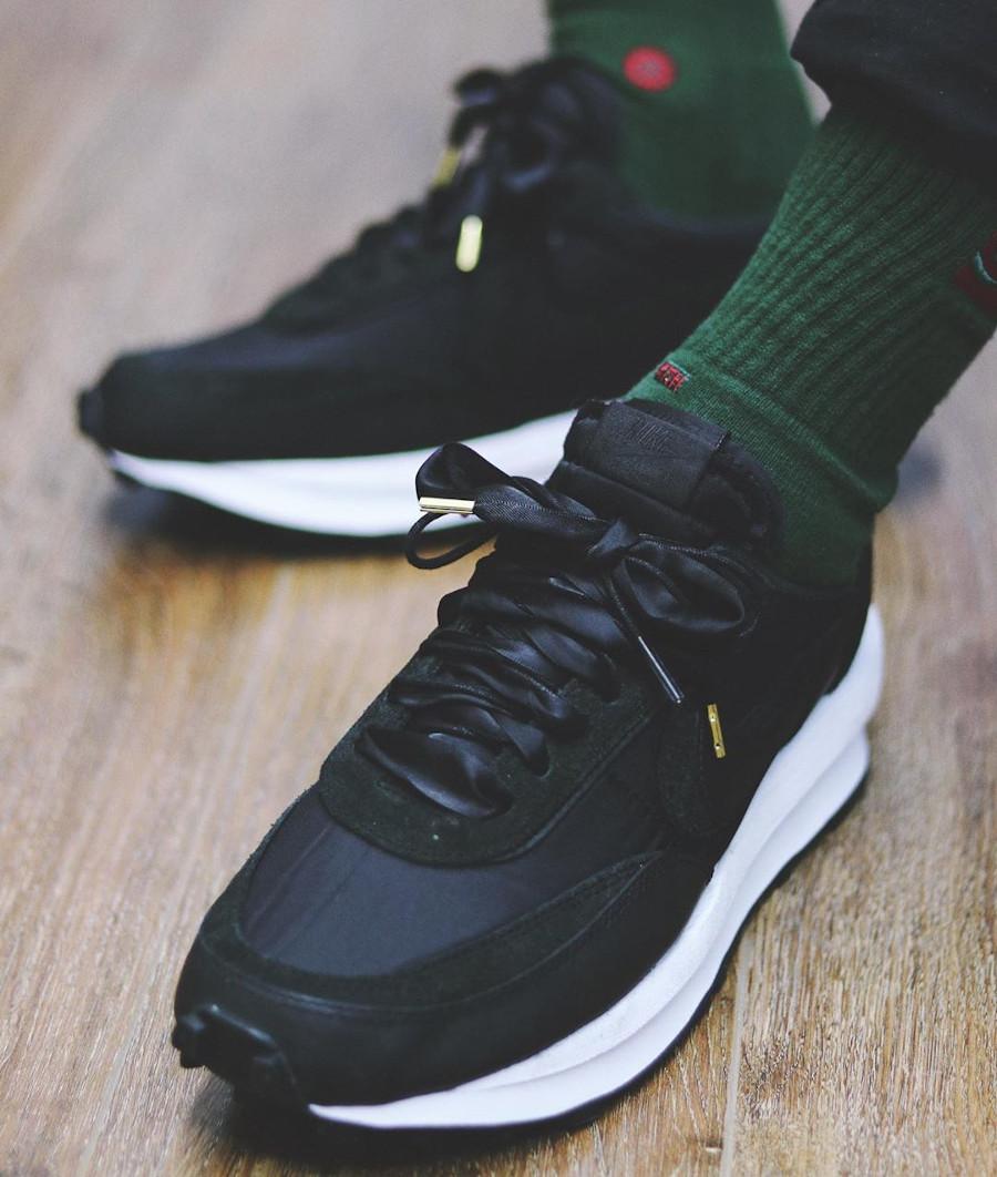 Sacai x Nike LD Waffle Black (2)