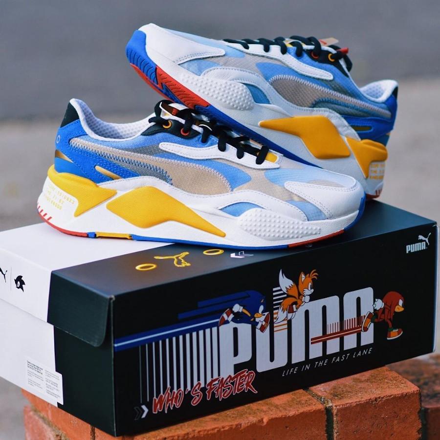 Sega x Puma RS-X³ Color 'Sonic The Hedgehog' White Goldenrod (1-1)