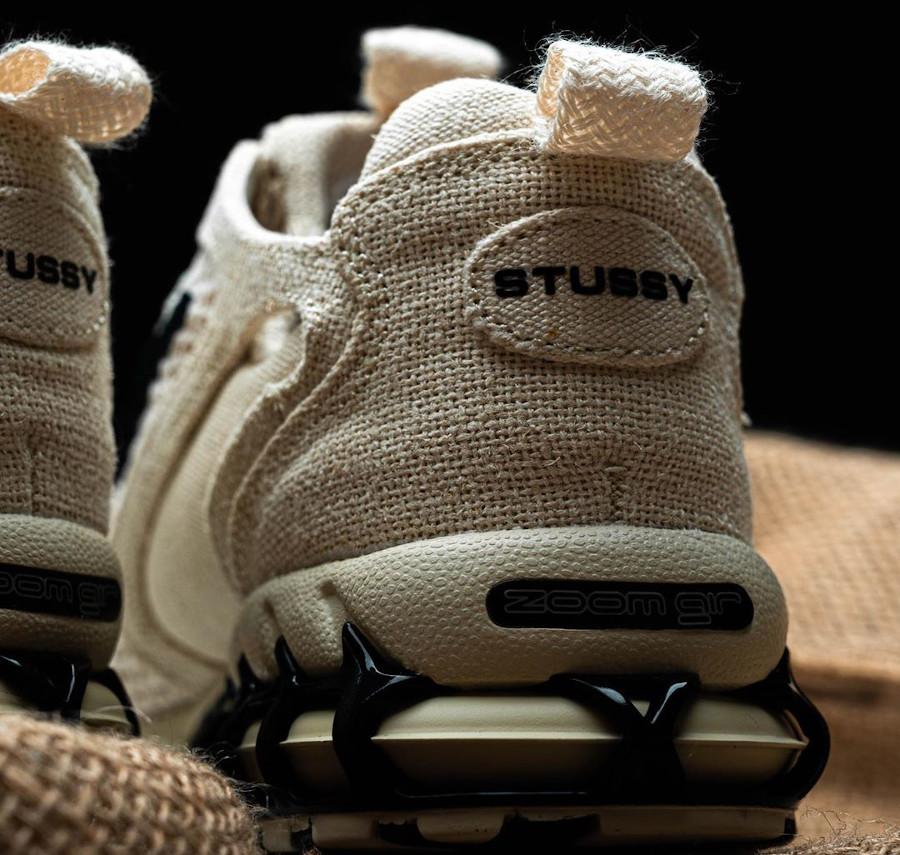 Stüssy x Nike Air Zoom Spiridon Cage 2 'Fossil' (Travis Scott) (3)