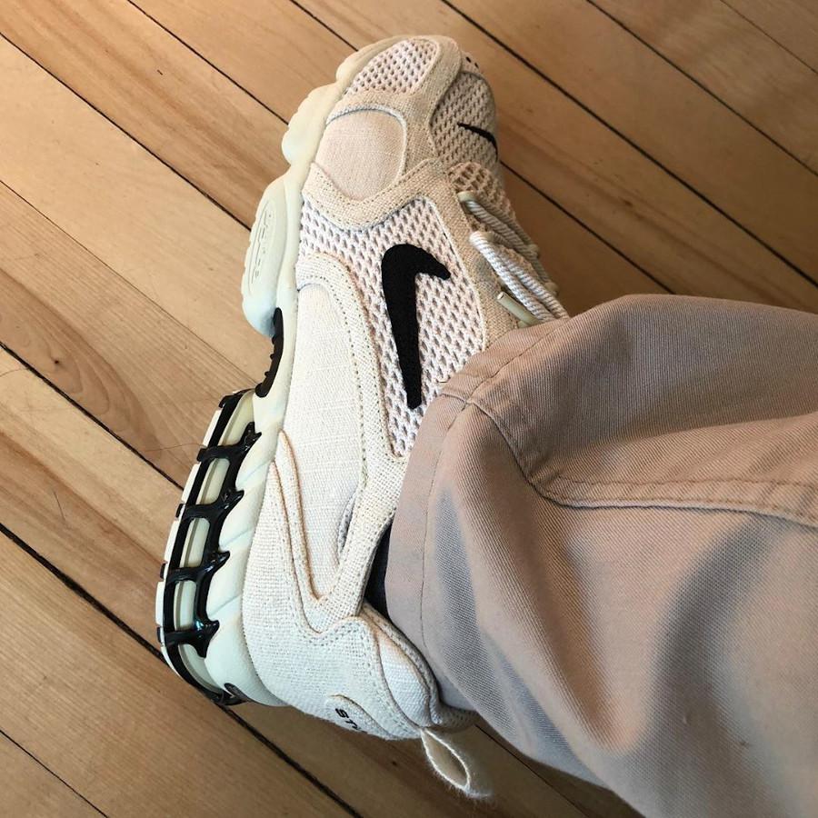 Stüssy x Nike Air Zoom Spiridon Cage 2 'Fossil' (Travis Scott) (5-1)