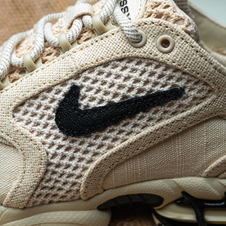 Stüssy x Nike Air Zoom Spiridon Cage 2 'Fossil' (Travis Scott) (5)