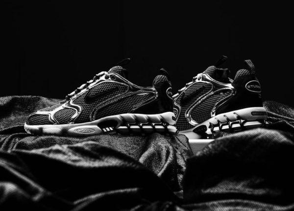 Stüssy x Nike Air Zoom Spiridon Cage 2 Pure Platinum Black (2)