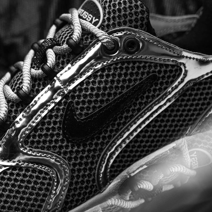 Stüssy x Nike Air Zoom Spiridon Cage 2 Pure Platinum Black (4)