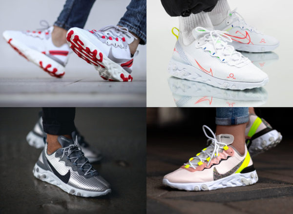 4 Nike React Element 55 pas cher