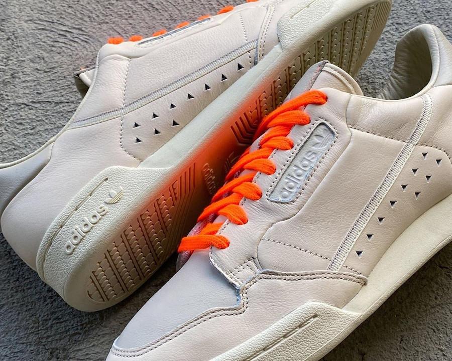 Adidas PW Continental 80 beige et orange FX8002 (1)