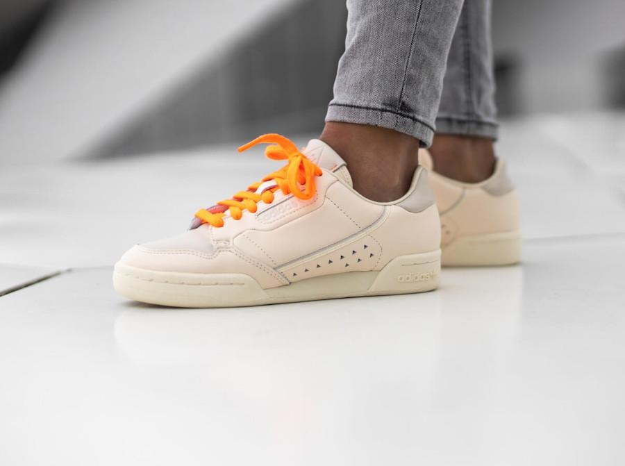 Adidas PW Continental 80 beige et orange FX8002 (2)