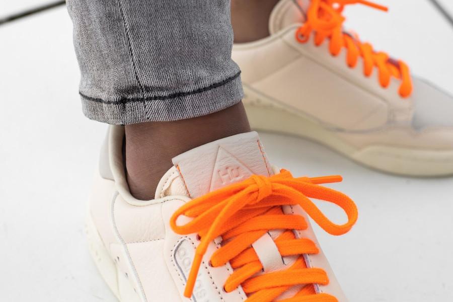 Adidas PW Continental 80 beige et orange FX8002 (3)