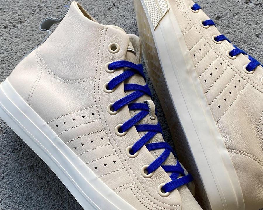 Adidas PW Nizza Hi RF beige et bleue FX8010 (1)