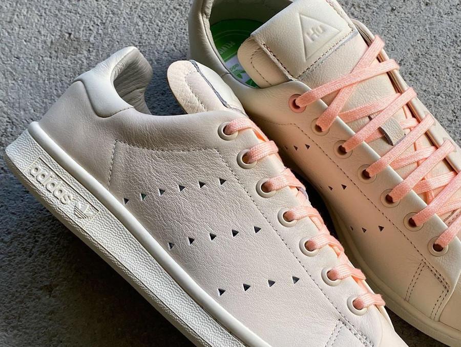 Adidas PW Stan Smith beige et rose FX8003 (1)