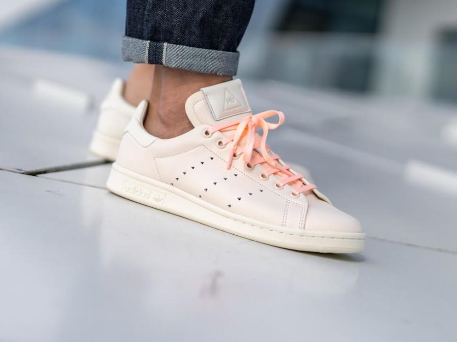 Adidas PW Stan Smith beige et rose FX8003 (2)