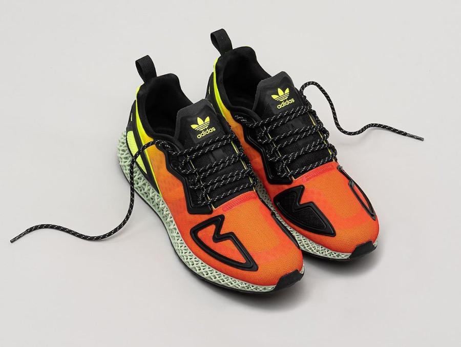 Adidas ZX 2K 4D Solar Yellow Hi-Res Red Core Black (1)
