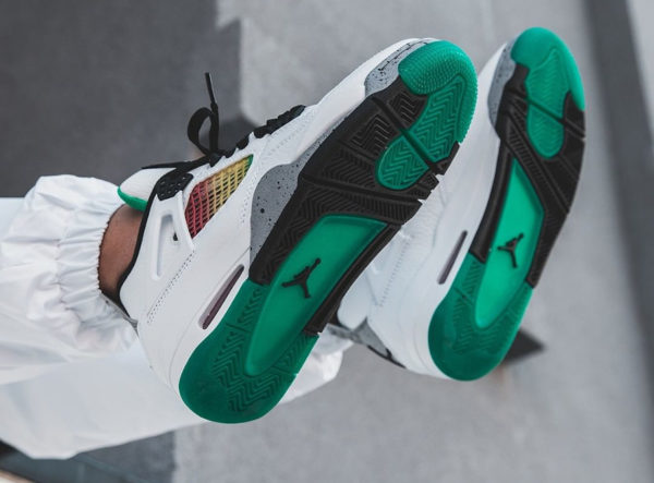 Air Jordan 4 Retro Wmns 'Rasta' Lucid Green AQ9129-100