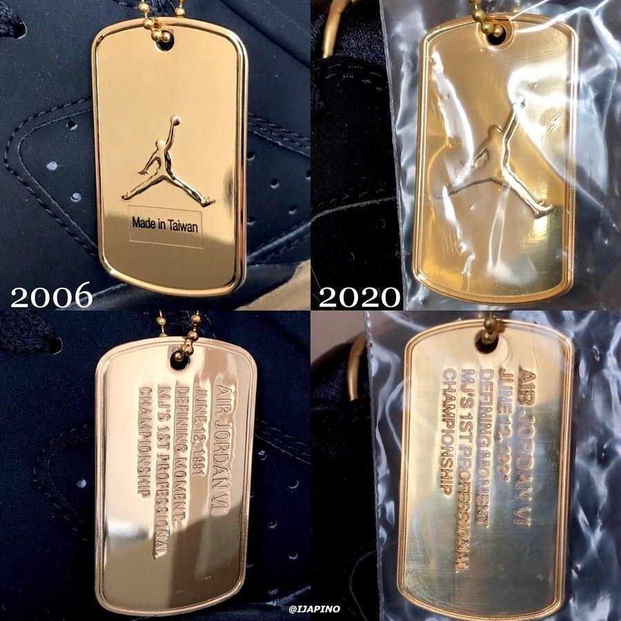 Air Jordan 6 DMP 2006 vs Air jordan 6 dmp 2020 (4)