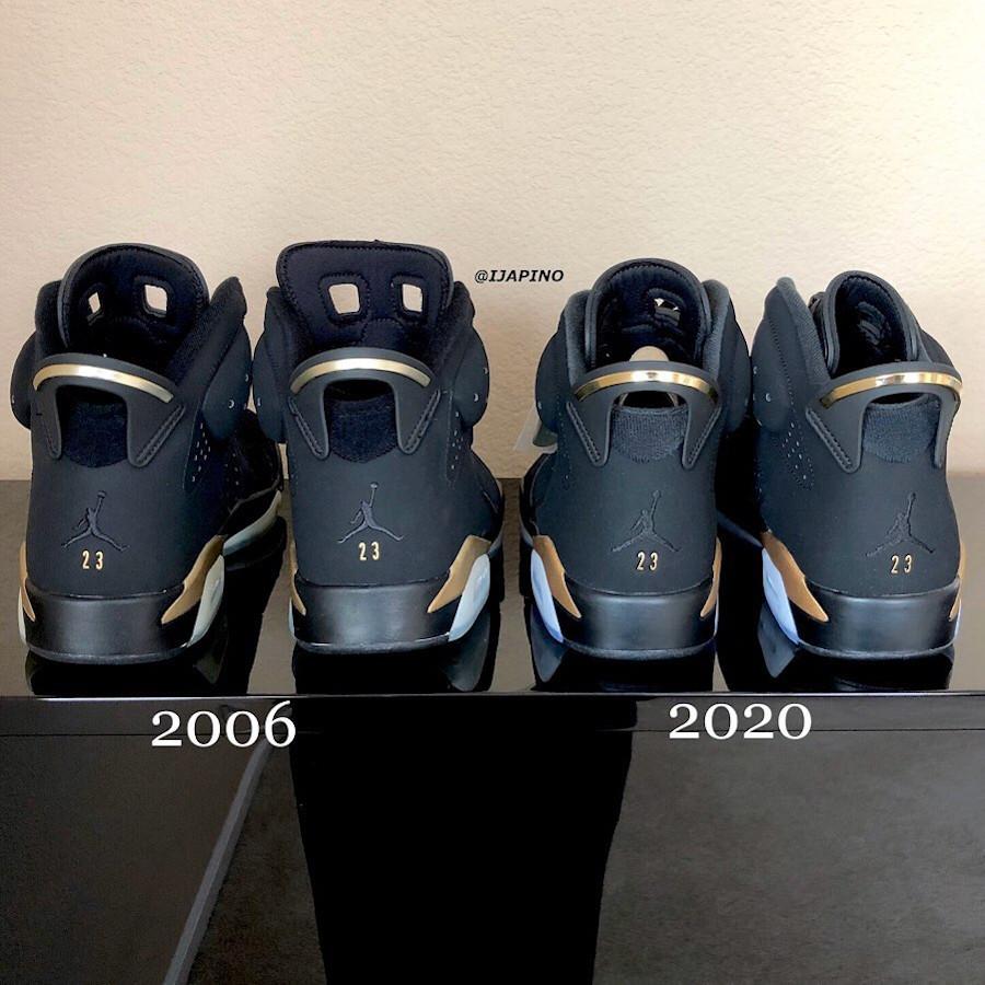 Air Jordan 6 DMP 2006 vs Air jordan 6 dmp 2020 (7)