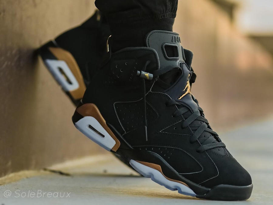 Air Jordan 6 Retro DMP 2020 Black Gold CT4954-007 (2)