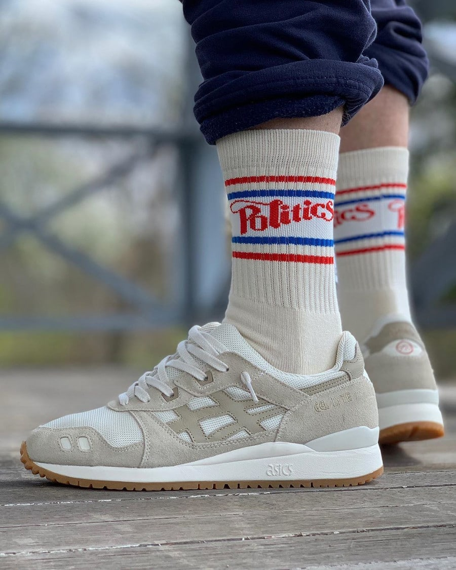 Asics Gel Lyte 3 OG 'Monozukuri Pack' Ivory Wood Crepe on feet (1)