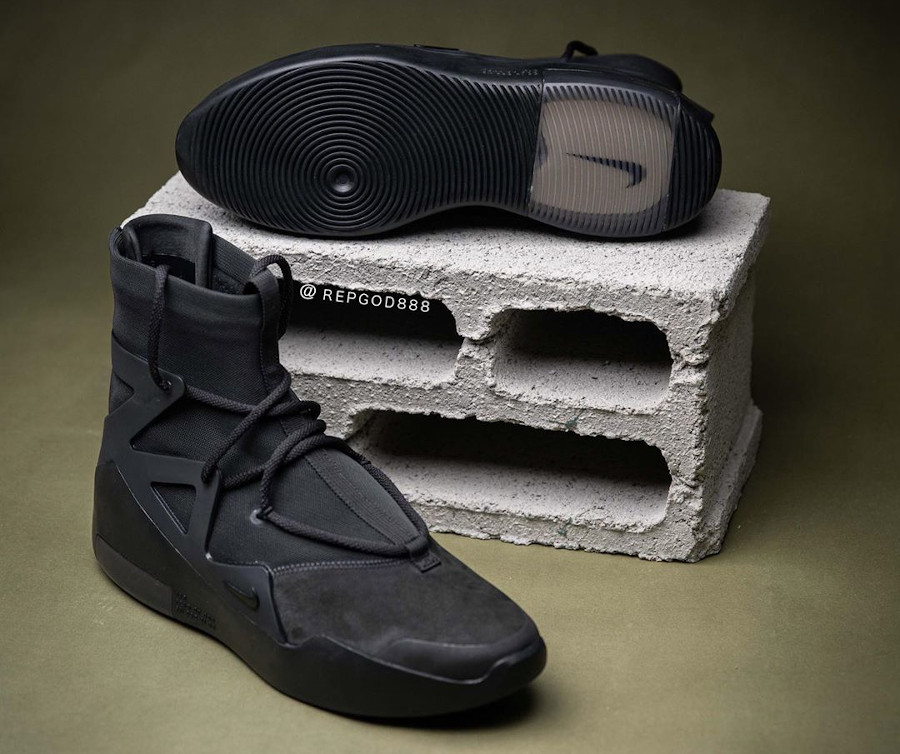 Jerry Lorenzo x Nike Air Fear of God 1 Triple Black (4)